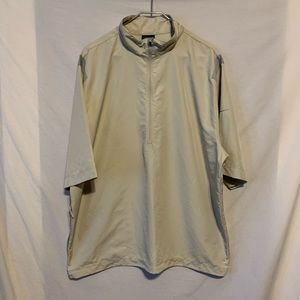 Nike golf men XL tan 1/2 zip short sleeve pullover
